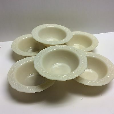 Indiana Custard Flower & Leaf Band Cereal Bowls - 6