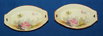 [2] TWO HAND PAINTED NIPPON ~ SALT DISH DIPS CELLARS DISHES OPEN SALTS /b15d