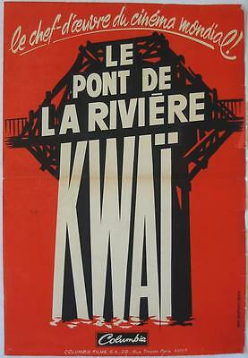 THE BRIDGE ON THE RIVER KWAI 1957 David Lean / William Holden - French 17x25
