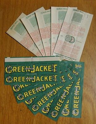 Green Jacket Canadian Chewing Gum Wrapper Toronto Canada ☆ Baseball Game Promo
