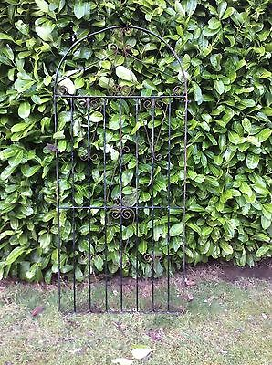 Wrought iron arched gate 184 cm x 84 cm