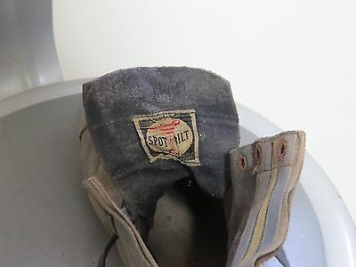 Vintage 1940s Riddell Spot Bilt High Top Leather Football Shoes Cleats Size 8D
