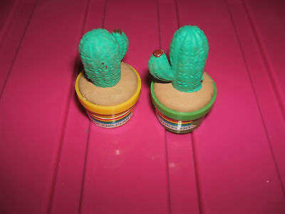 RARE 1980s CASED CACTUS ERASERS RUBBERS - COMBINED POSTAGE