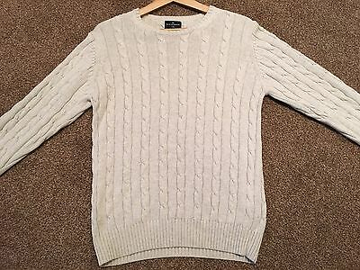 Marks & Spencer Cotton Crew Neck Jumper - Size Small
