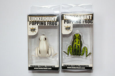 """Lunkerhunt Popping Frog 1.75"""" - NEW - Lot of 2 - Fishing Lure"""