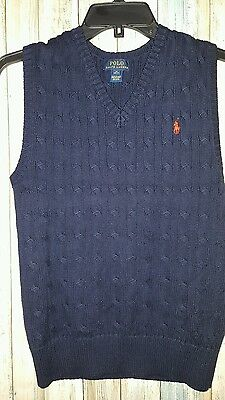 Polo Ralph Lauren Boys Navy Blue Red Pony Logo Horse Size M (10-12)