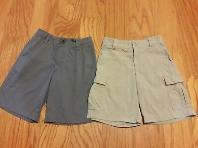 2 Pairs Youth Boys UNDER ARMOUR Golf Shorts Lot YSM Small