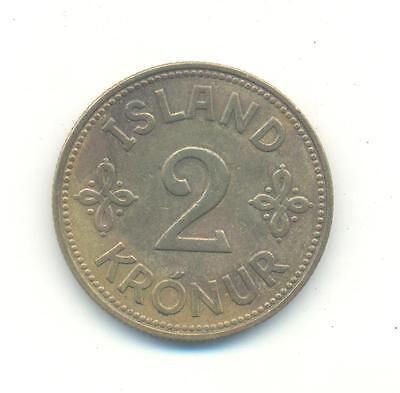 Very Nice Rare.iceland.two Krona.1940..very Collectable.e.141