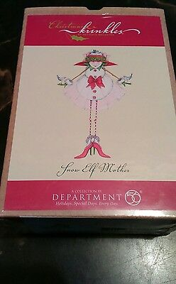 Department 56, Snow Elf Mother Ornament Christmas Krinkles