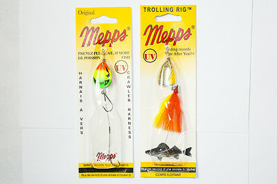 Mepps Trolling Rig and Crawler Harness UV - LOT OF 2 - Fishing Lures Walleye