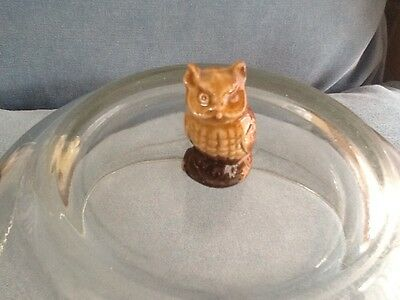 """Wade 1-1/2"""" tall Owl in Great Condition"""
