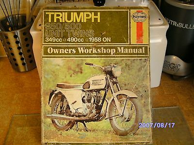 Haynes Triumph Owners Motorcycle Manual.350/500 Twins.
