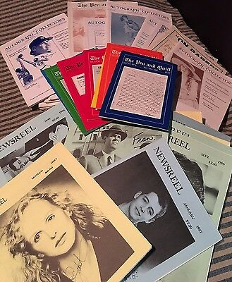 Lot of 31 1980s Autograph Collecting Publications Magazines