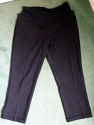 Black over bump maternity trousers size 20