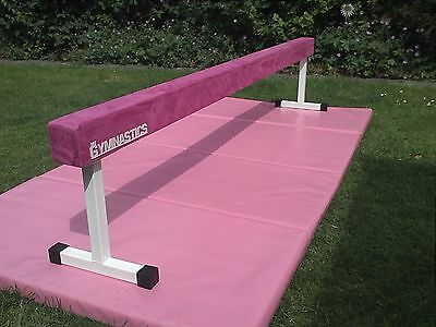 "gymnastic balance beam 8ft long 18"" high in pink"