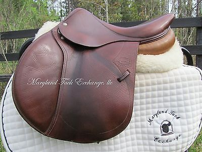 """16"""" DEVOUCOUX SOCOA CALFSKIN french close contact child jumping saddle-2008"""