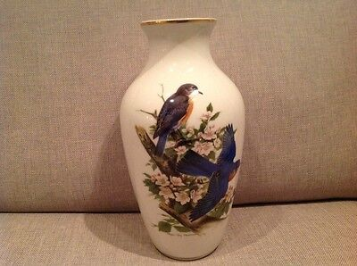 "Kaiser Porcelain Vase decorated with "" Bluebirds "" by Roger Paterson"