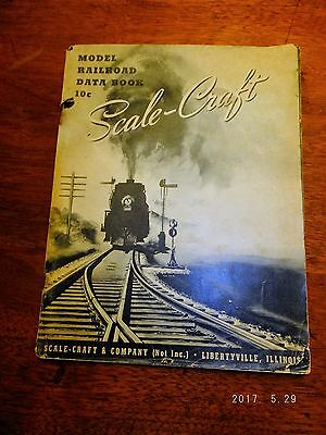 Vintage 1941 Scale Craft Model Railroad Data Book 91 pages