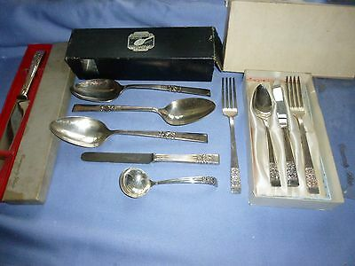 Job Lot Vintage Collectable Cutlery Community Boxed Sets Spoons  Knife / Fork Et