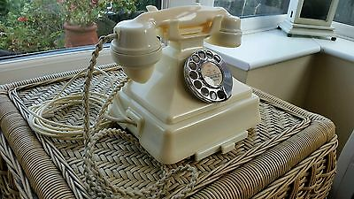 Rare Ivory/Cream 200 Series Antique Bakelite GPO Telephone
