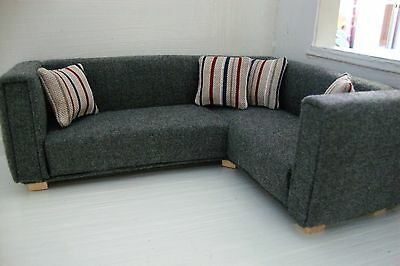 1:12 scale Corner Sofa with cushions for dolls house