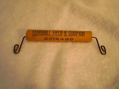 MARSHALL FIELD & COMPANY, Chicago Vintage Wood & Wire Package Handle - Neat