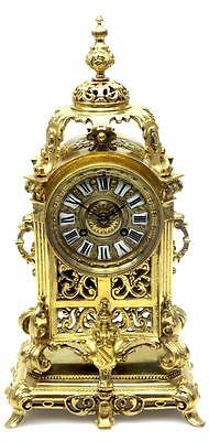 Antique 8 Day French Ormolu Mantel Clock Solid Bronze Case Amazing Quality 1870