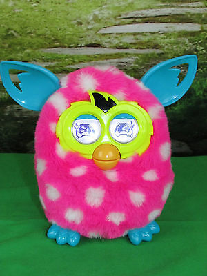 Furby Boom PINK w/ White Spots  Interactive Talking Plush Toy Hasbro 2012