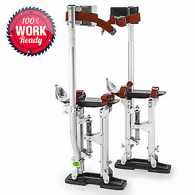 """OPEN BOX - Drywall Painters Walking Stilts Taping Tools - Adjustable 18"""" - 30"""""""