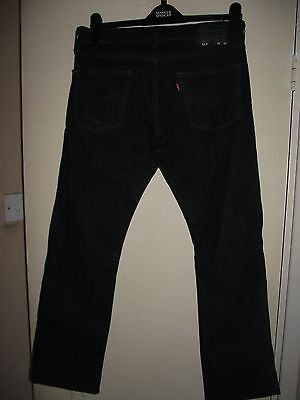 levi strauss 513 black jeans waist 30 inches inside leg 29