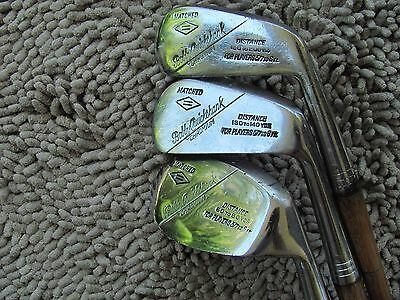 Scarce Hickory Wood Shaft Bobby Cruickshank Irons Matched 1-3-8 - Playable