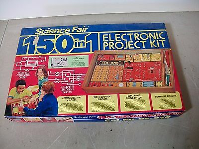 VTG 1976 TANDY RADIO SHACK SCIENCE FAIR 150 in 1 ELECTRONIC PROJECT KIT 28-248