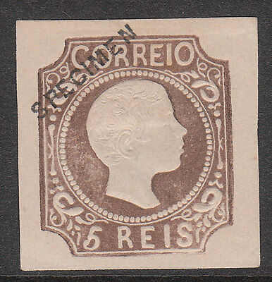 PORTUGAL 1855 1856 Mi#9 VARIETY IMPERF SPECIMEN OPTED MINT STAMP good embossing