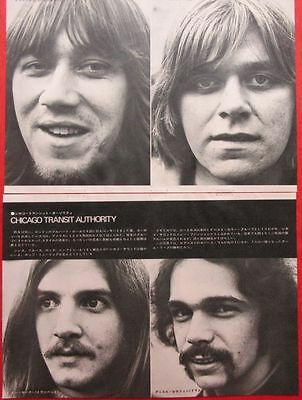 CHICAGO Terry Kath Peter Cetera 1970 CLIPPING JAPAN MAGAZINE CUTTING U1 F9 3PAGE