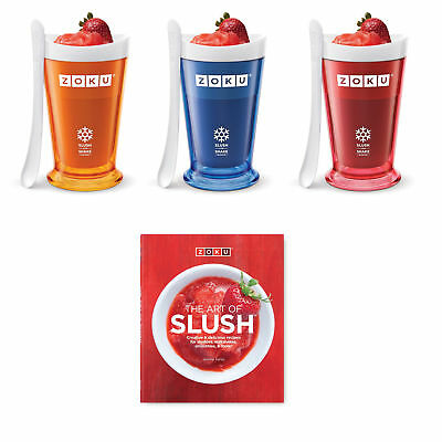 Zoku Slush Shake maker - frozen smoothie and milkshakes - with recipe book