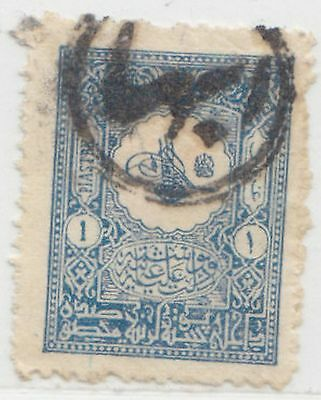 Saudi Arabia  Turkey  1901 Issue 1 Pia. Showing All Arabic Double-Circle 'ebha'