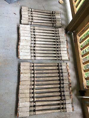 30 Antique Wood Spindles Baluster Architectural Salvage