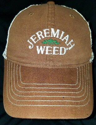 Jeremiah Weed Bourbon Snapback Baseball Cap Dad Hat Collectable Drinking Hat