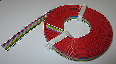 (1,39 €/ M) 8-fach Flat Band CABLE STRANDED WIRE 16.4 Ft 8 Colors NEW