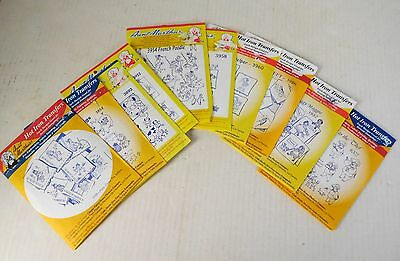 Lot 10 Aunt Martha'S Embroidery Hot Iron Transfer Patterns