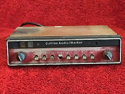 Collins Amr 350 Audio Panel Marker Beacon With Tray & Connector P/n 622-2087-001