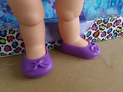 Galoob Baby Face Sized Purple Vinyl Slip On Shoes One Pair