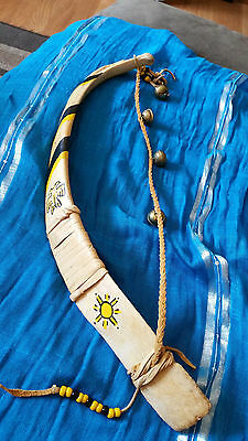 Native American Dance Stick Painted Spirit Stick Ceremony Southwestern