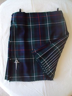 Kilt, Custom Made in Scotland by House of Edgar, Heavyweight, Worn Once