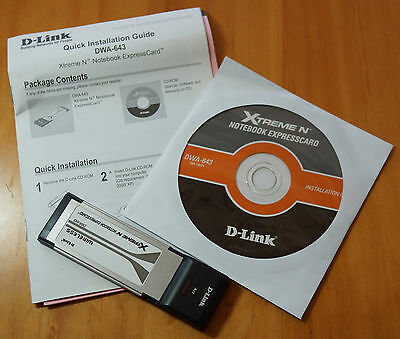 D-Link Extreme N (DWA-643) Netcard - 802.11n Expresscard -Small +portable + fast