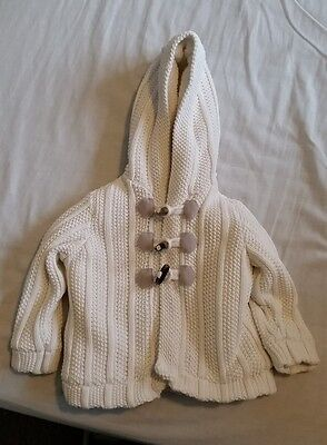 M&S baby girl duffle jacket 6-9 months