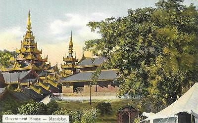 Early 1900s Burma Government House Mandalay Unused Postcard by Ahuja 132