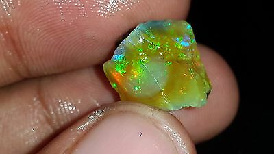 100%natural Ethiopian Multi Welo Fire 9 Cts Aaa+ Rare Opal Rough Loose Gemstone