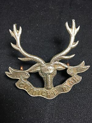 #37 Vintage Metal SEAFORTH HIGHLANDERS MILITARY CAP BADGE WWI WWII Army War