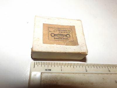 Nice Scarce Vintage And Early Box Of British Made Improved Bronzed Swivels